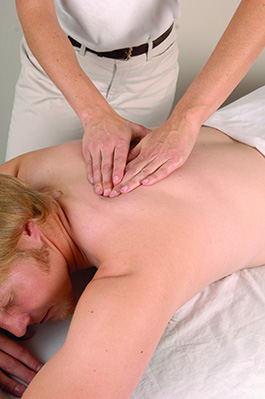 client receiving a massage